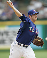 Texas Rangers P Doug Mathis against the Seattle Mariners on May 14th, 2008 at Texas Rangers Ball Park in Arlington, Texas. Photo by Andrew Woolley .