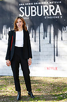 Barbara Chichiarelli<br /> Rome February 20th 2019. Photocall for the presentation of the second season of the Netflix series Suburra at Casa del Cinema in Rome.<br /> Foto Samantha Zucchi Insidefoto