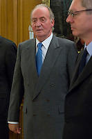 30.07.2012. King Juan Carlos I of Spain attends the promise of the President of the Court of Auditors, Ramon Alvarez de Miranda Garcia, at the Royal Palace of La Zarzuela. In the image King Juan Carlos (Alterphotos/Marta Gonzalez) *NortePhoto.com<br />