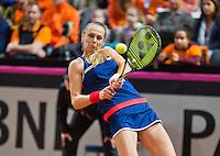Februari 08, 2015, Apeldoorn, Omnisport, Fed Cup, Netherlands-Slovakia,  Magdaléna Rybáriková (SLO)<br /> Photo: Tennisimages/Henk Koster