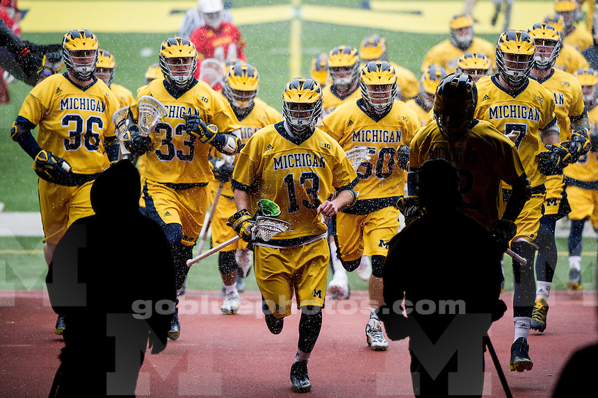 The University of Michigan men's lacrosse team falls to Maryland, 8-7, at Michigan Stadium in Ann Arbor, MI on April 2, 2016.