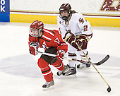 Courtney Sawchuk (St. Lawrence - 17), Kristina Brown (BC - 2) - The visiting St. Lawrence University Saints defeated the Boston College Eagles 4-0 on Friday, January 15, 2010, at Conte Forum in Chestnut Hill, Massachusetts.