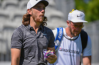 Tommy Fleetwood (ENG) eats a sandwich as he heads down 10 during 3rd round of the World Golf Championships - Bridgestone Invitational, at the Firestone Country Club, Akron, Ohio. 8/4/2018.<br /> Picture: Golffile | Ken Murray<br /> <br /> <br /> All photo usage must carry mandatory copyright credit (© Golffile | Ken Murray)