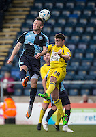Garry Thompson of Wycombe Wanderers during the Sky Bet League 2 match between Wycombe Wanderers and Accrington Stanley at Adams Park, High Wycombe, England on the 30th April 2016. Photo by Liam McAvoy / PRiME Media Images.