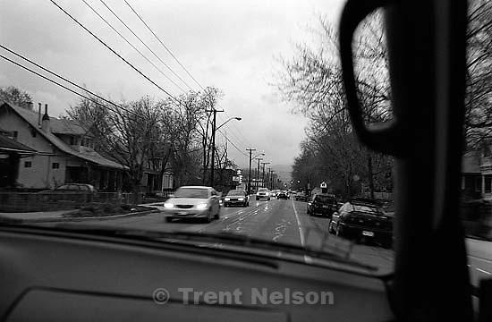 Driving Noah to school<br />