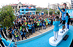 Alexey Lutsenko (KAZ) Astana Pro Team holds the race leaders jersey at the end of Stage 5 of the 54th Presidential Tour of Turkey 2018, running 135.7km from Sel&ccedil;uk to Manisa, Turkey. 13th October 2018.<br /> Picture: Brian Hodes/VeloImages | Cyclefile<br /> <br /> <br /> All photos usage must carry mandatory copyright credit (&copy; Cyclefile | Brian Hodes/VeloImages)