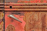 The Red Door detail - AZ - rusty truck