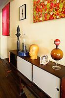 Corner with artworks