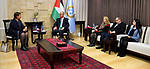 Palestinian Prime Minister, Rami Hamdallah meets with EU envoy to the Middle East peace process Susan Tristal, in the West Bank city of Ramallah, on February 28, 2019. Photo by Prime Minister Office
