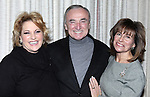 "Lorna Luft with William Bratton and Rikki Klieman attending  the press reception for ""Songs My Mother Taught Me: The Judy Garland Songbook"" at Feinsteins in New York City."