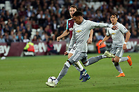 Jesse Lingard of Manchester United and Mark Noble of West Ham United during West Ham United vs Manchester United, Premier League Football at The London Stadium on 10th May 2018