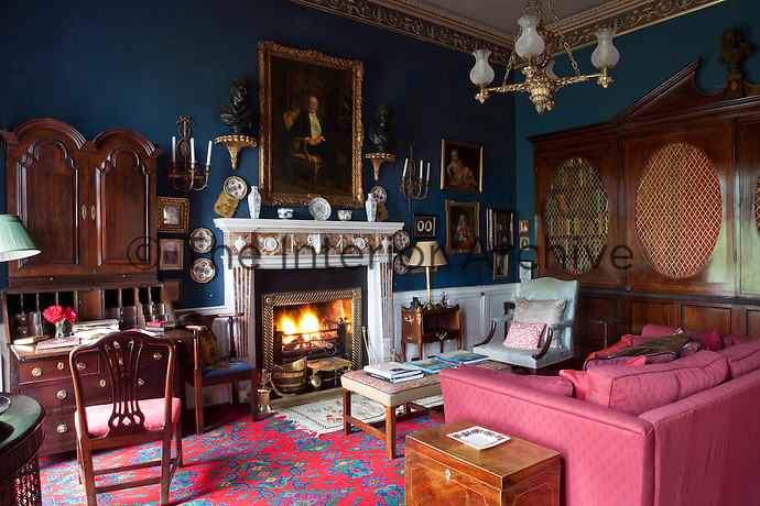 The library/sitting room was created as part of the extensions made to the castle in the 1790s