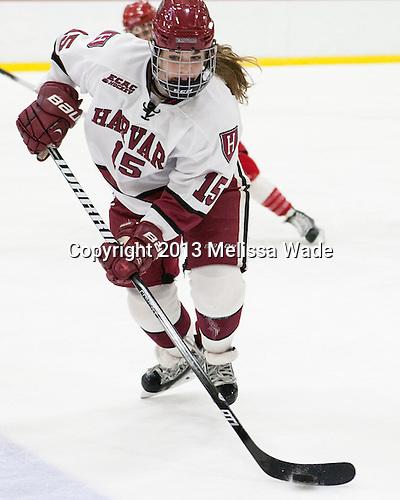 Mary Parker (Harvard - 15) - The Harvard University Crimson defeated the visiting Boston University Terriers 3-1 on Friday, November 22, 2013, at Bright-Landry Hockey Center in Cambridge, Massachusetts.