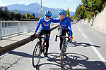 Tatiana Guderzo and Elena Cecchini (ITA) training ride before the 2018 UCI Road World Championships, Innsbruck-Tirol, Austria 2018. 26th September 2018.<br /> Picture: Innsbruck-Tirol 2018/BettiniPhoto | Cyclefile<br /> <br /> <br /> All photos usage must carry mandatory copyright credit (&copy; Cyclefile | Innsbruck-Tirol 2018/BettiniPhoto)
