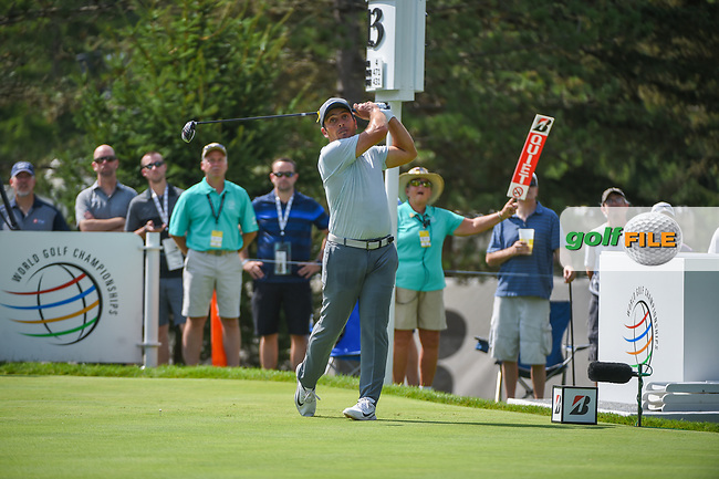 Francesco Molinari (ITA) watches his tee shot on 13 during 2nd round of the World Golf Championships - Bridgestone Invitational, at the Firestone Country Club, Akron, Ohio. 8/3/2018.<br /> Picture: Golffile | Ken Murray<br /> <br /> <br /> All photo usage must carry mandatory copyright credit (© Golffile | Ken Murray)