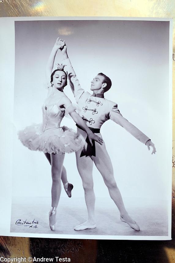 USA. New York. March 2009.Freddie Franklin with Alexandra Danilova in Los Angeles in the 1940's..©Andrew Testa.