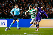 5th December 2017; Glasgow, Scotland;  Sven Kums midfielder of RSC Anderlecht and Stuart Armstrong midfielder of Celtic FC  during the Champions League Group B match between Celtic FC and Rsc Anderlecht