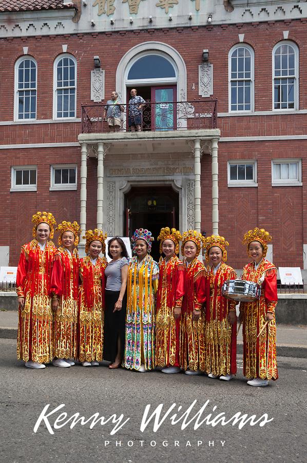 Chinese Girls Drill Team, Dragon Fest 2015, Chinatown, Seattle, Washington, USA