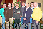 Pictured at the Milltown/Castlemaine medal presentations in the Killorglin Golf Club on Thursday night were Kevin McKenna, Jerry Casey, Colin McKenna, Willie Hannafin, Damien McKenna, Brendan Twiss, Garry Murphy and Albert King.