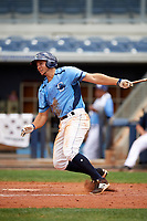 Charlotte Stone Crabs third baseman Kevin Padlo (11) follows through on a swing during a game against the Palm Beach Cardinals on April 12, 2017 at Charlotte Sports Park in Port Charlotte, Florida.  Palm Beach defeated Charlotte 8-7.  (Mike Janes/Four Seam Images)