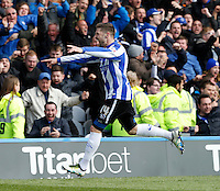 Sheffield Wednesday v Cardiff .Sky Bet Championship ....... Wednesdays double scorer Gary Hooper celebrates
