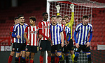 Players of both teams wait for a corner during the Professional Development League match at Bramall Lane, Sheffield. Picture date: 26th November 2019. Picture credit should read: Simon Bellis/Sportimage