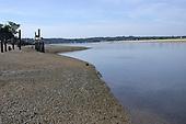 The island with a pebble beach.
