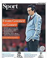 Daily Telegraph - 30-Nov-2019 - 'From Gooner to Goner' - Photo by Rob Newell (Camerasport via Getty Images)