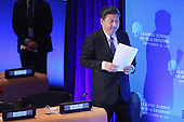 President Xi Jinping of China prepares to address the Leaders' Summit on Peacekeeping at the 70th annual UN General Assembly at the UN headquarters September 28, 2015 in New York City. U.S. The White House helped to lead and secure new committments of peacekeeping support from UN member countries.  <br /> Credit: Chip Somodevilla / Pool via CNP