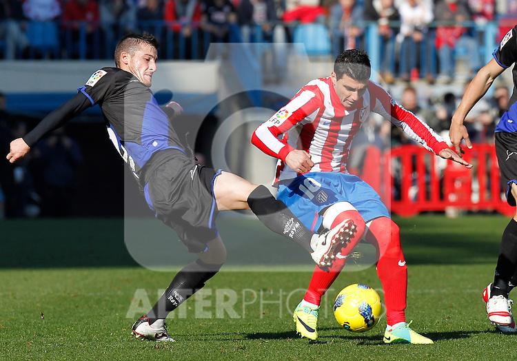 Madrid (04/12/2011).- Estadio Vicente Calderon..LIGA BBVA 15ª Jornada.Atletico de Madrid - Rayo Vallecano..Reyes, Tito R.R.......