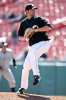 April 19, 2010:  Pitcher Bobby Parnell of the Buffalo Bisons delivers a pitch during a game at Coca-Cola Field in Buffalo, New York.  The Bisons are the Triple-A International League affiliate of the New York Mets.  Photo By Mike Janes/Four Seam Images