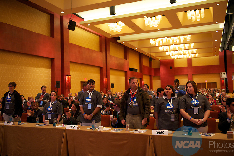 14 JAN 2011: The Division III business session at the annual NCAA Convention held in San Antonio,TX. (Joshua Duplechian/NCAA Photos)