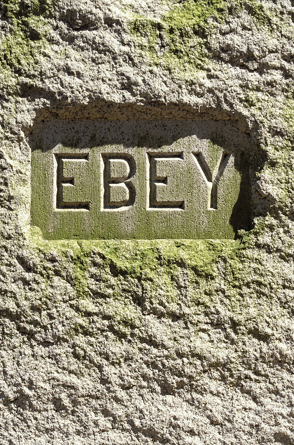 """Ebey"" grave inscription, Sunnyside Cemetery, Coupeville, Whidbey Island, Washington"
