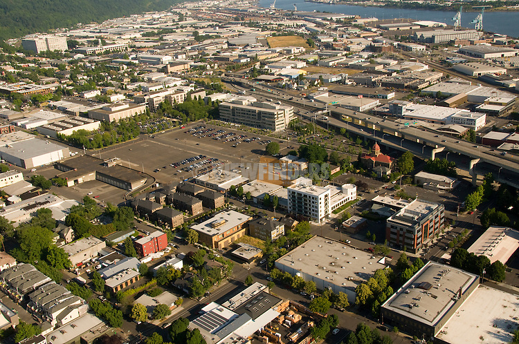 Aerial of Conway Development area in NW Portland, Oregon