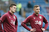 Burnley's Kevin Long (left) and Ben Gibson during the pre-match warm-up <br /> <br /> Photographer Rich Linley/CameraSport<br /> <br /> Emirates FA Cup Third Round - Burnley v Barnsley - Saturday 5th January 2019 - Turf Moor - Burnley<br />  <br /> World Copyright &copy; 2019 CameraSport. All rights reserved. 43 Linden Ave. Countesthorpe. Leicester. England. LE8 5PG - Tel: +44 (0) 116 277 4147 - admin@camerasport.com - www.camerasport.com