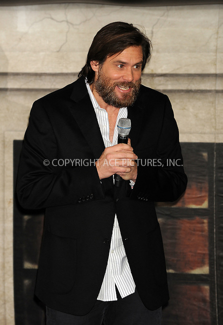 WWW.ACEPIXS.COM . . . . .  ....October 30 2009, New York City....Actor Jim Carrey at the 'Disney's A Christmas Carol' train tour last stop at Grand Central Station on October 30, 2009 in New York City.....Please byline: AJ Sokalner - ACEPIXS.COM.... *** ***..Ace Pictures, Inc:  ..(212) 243-8787 or (646) 769 0430..e-mail: picturedesk@acepixs.com..web: http://www.acepixs.com