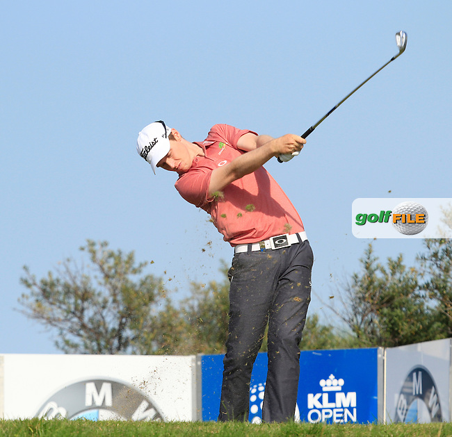 Kevin Phelan (IRL) on the 17th tee during Round 1 of the 2015 KLM Open at the Kennemer Golf &amp; Country Club in The Netherlands on 10/09/15.<br /> Picture: Thos Caffrey | Golffile
