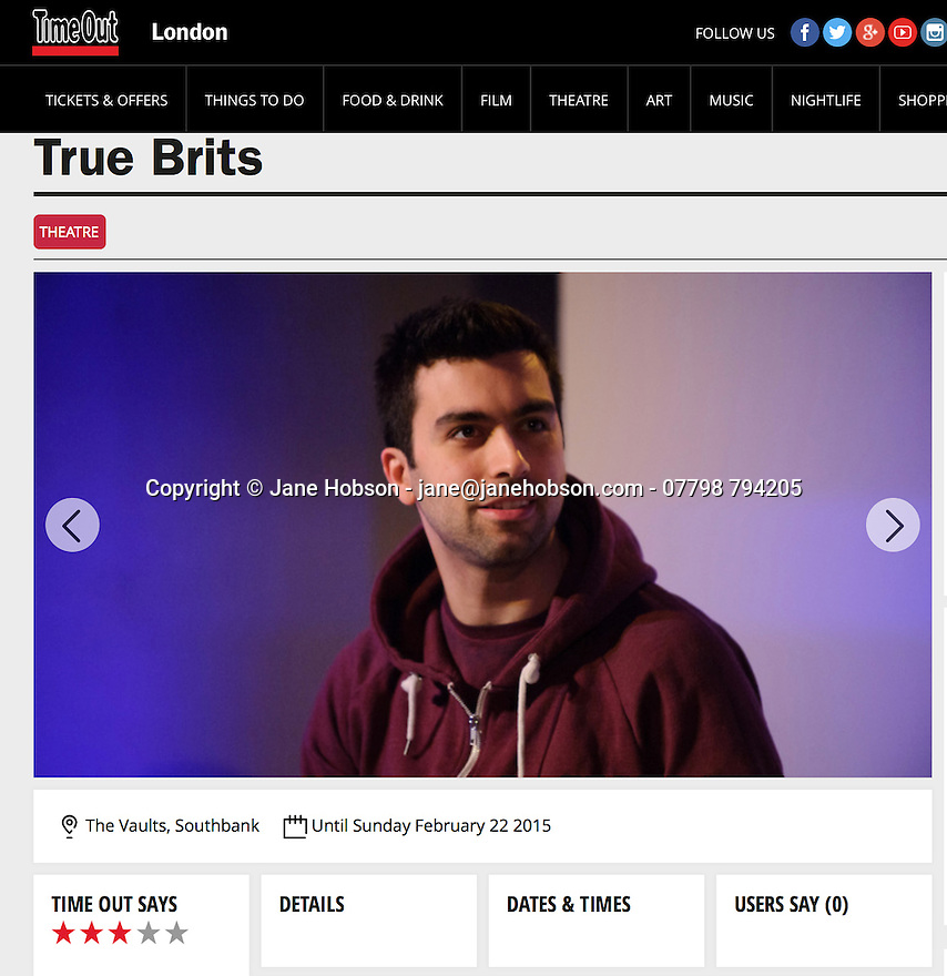 True Brits, Vaults, Time Out 14.02.15