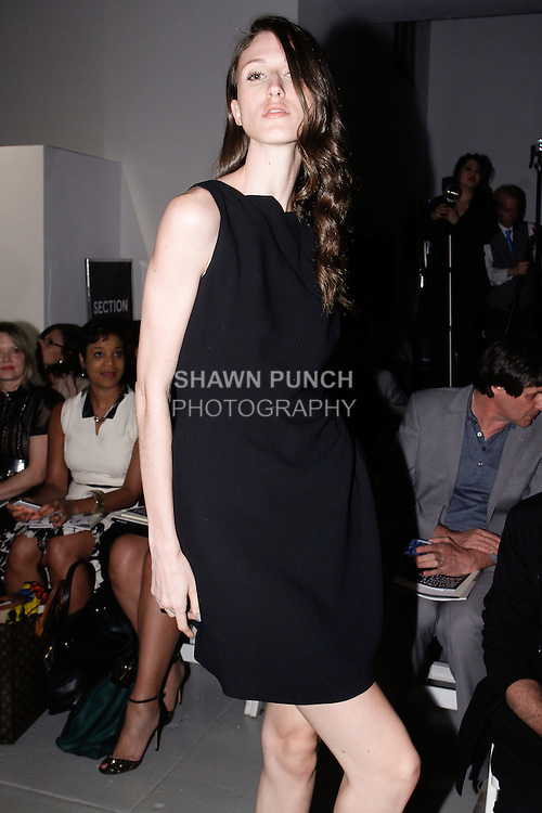 """Model Anna Cleveland attends the 115th Annual Pratt Institute 2014 """"Under Construction"""" collection Student Runway Show;  at Center548 in NYC, on May 1, 2014."""