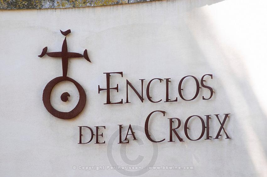 The gate. Domaine Enclos de la Croix, Languedoc, France