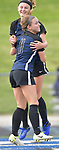Columbia players Chloe Graff (front) and Haley Glover hug after Graff scored a goal in the Class 1A girls soccer supersectional game played at Columbia High School in Columbia, IL on Tuesday May 21, 2019.<br /> Tim Vizer/Special to STLhighschoolsports.com