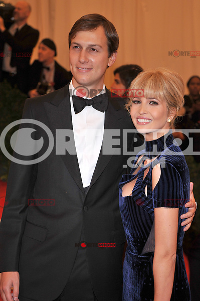 Jared Kushner and Ivanka Trump at the 'Schiaparelli And Prada: Impossible Conversations' Costume Institute Gala at the Metropolitan Museum of Art on May 7, 2012 in New York City. © mpi03/MediaPunch Inc.