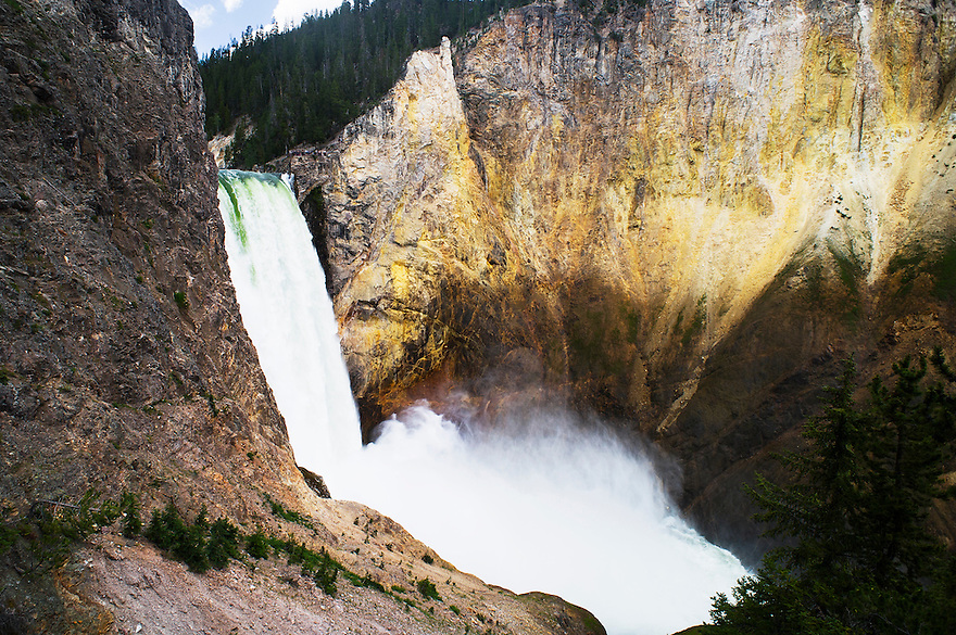 Lower Falls tumbles into the Grand Canyon of the Yellowstone in Yellowstone National Park.