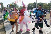 Revellers in funny outfits enjoy party at Sziget Festival held in Budapest, Hungary on Aug. 13, 2018. ATTILA VOLGYI