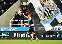 Jack Colback of Newcastle United celebrates scoring their first goal