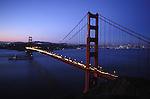 Golden Gate Bridge in the evening, San Francisco California