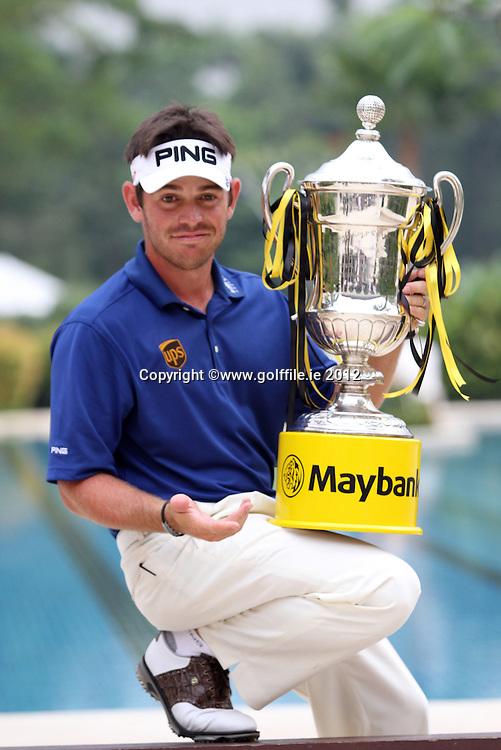 Louis Oosthuizen (RSA) after winning the 2012 Maybank Malaysian Open at Kuala Lumpur Golf and Country Club, Kuala Lumpur, Malaysia...(Photo Jenny Matthews/www.golffile.ie)