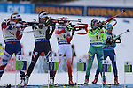11/12/2016, Pokljuka - IBU Biathlon World Cup.<br /> Alexia Runggaldier competes during the relay race in Pokljuka, Slovenia on 11/12/2016. Germany wins ahead of France and Ukraine.