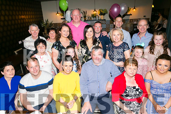 Mary Hussey, Marion Park Tralee celebrates her 70th birthday with family at the Ashe Hotel on Saturday