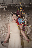Model shoot at Lillesden School for Girls, model Emma Meyrowitz, flowers by Harriet Parry.